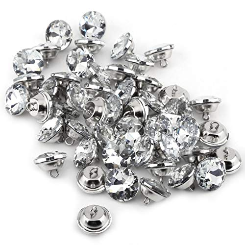 Exquisito magnífico 50 piezas botones de diamantes de imitación ropa accesorio muebles cabecero sofá ropa(20mm)