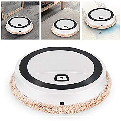N/D Intelligent Sweeping Robot Vacuum Cleaner Automatic Robot Vacuum Mop Cleaner Floor Washing Wiping Mopping Machine Wet/Dry USB Charging for Pet Hair, Hard Floor, Carpet