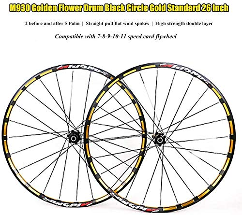 LIMQ Mountainbike Wielset, zilverlegering ATB 7-11 Speed Freewheel Hub Achterwiel Complete set van drums gemodificeerd 120 (26 inch)