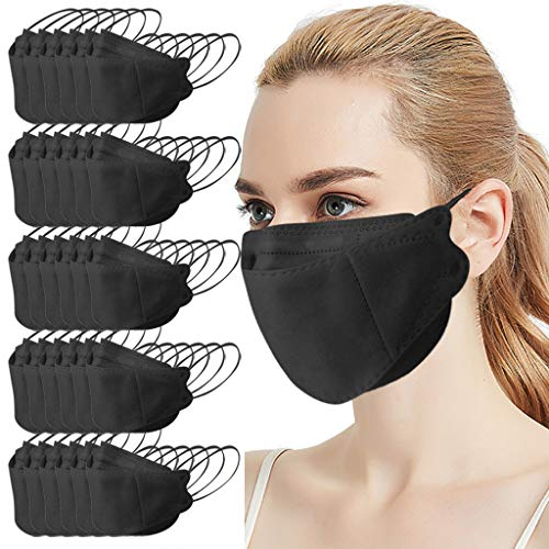 Reusable Adult Outdoor 𝙈𝙖𝙨𝙠𝙨, Fashion Cute Design, 𝙈𝙖𝙨𝙠 Like Fish, Non Woven and Melt Blown Cloth (30, Black)