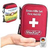 MedGo  Botiquín de primeros auxilios para los primeros auxilios óptimos - DIN 13167 - Para los deportes, el aire libre y los viajes