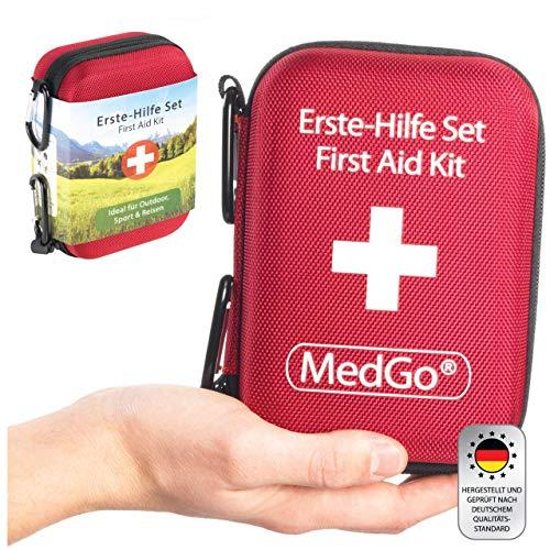 MedGo ® Erste Hilfe Set für eine optimale Erstversorgung – DIN 13167 – Für Sport, Outdoor und Reisen – Erstehilfeset, Wundversorgung, Erstehilfetasche für Zuhause oder Unterwegs