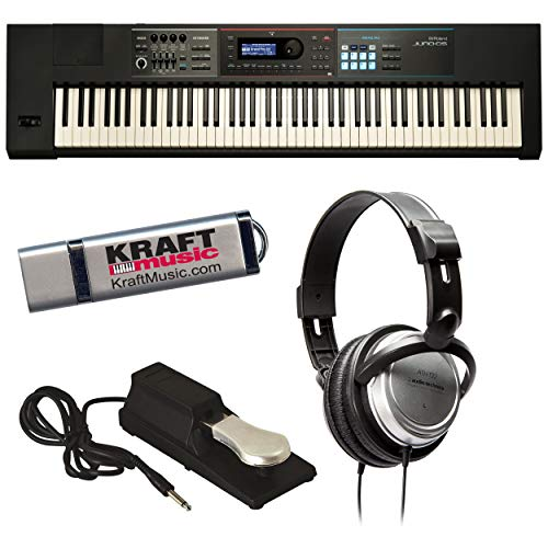 Best Buy! Roland JUNO-DS88 Synthesizer with Headphones, Piano-Style Sustain Pedal and Flash Drive