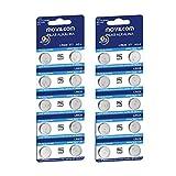 MovilCom® - 20 Pilas botón AG4 Pila Reloj 1.5V Equivalente