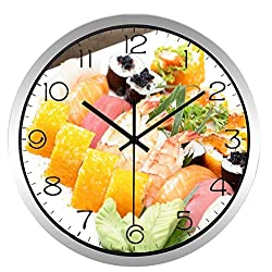 Chuixiaoxiao1 Wall Clock Japan Sushi Exquisite Food The New Home Decoration Restaurant Kitchen Clock(10inch)