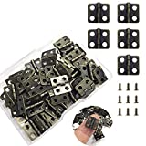 Juland 50 Pieces Mini Pure Copper Hinges Retro Hinges with 200 Pieces Replacement Screws for Wooden Box Jewelry Chest Box Cabinet DIY Accessories (13 x 12mm/0.51 x 0.47inch) – Bronze