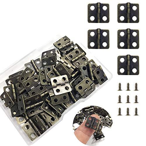 DOITOOL 10 piezas caja de madera bisagra aleaci/ón de zinc caja de joyer/ía de oro bisagra bisagra de muebles para herramientas de hogar