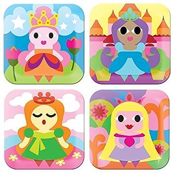 French Bull - BPA Free Children s Dinner Set - 8-Inch Melamine Kids Plate Set - Princess Set of 4