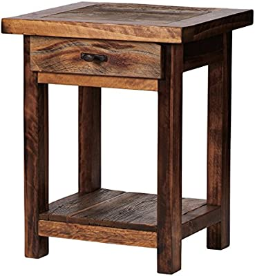 """Mountain Woods Furniture Wy-Ns1D, 30"""" High, Brown"""