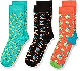 Happy Socks Unisex Baby Kids Volcano Gift Box Socken, Mehrfarbig (Multicolour 101), 0-12 Monate (Herstellergröße: 0-12M) (3er Pack)
