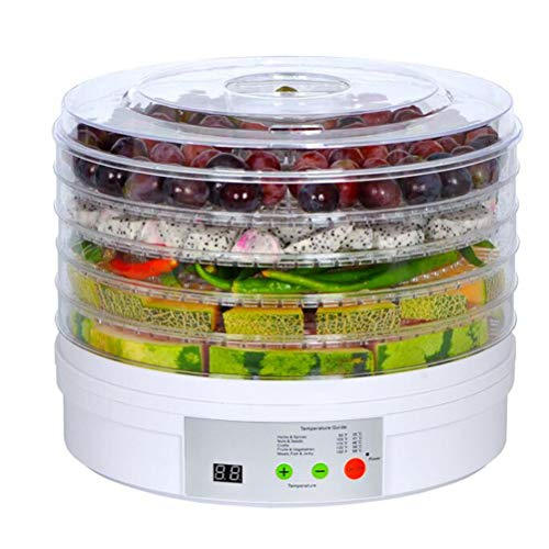 Amazing Deal 5 Tray Food Dehydrator with Thermostat, 6-48hr Digital Timer Fruit & Vegetables Dryer M...