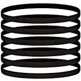 30 Pieces Elastic Sport Headbands Thin Elastic Exercise Head Band Anti-Slip Stretchy Sweatbands for Men and Women Running Jogging Yoga Workout Supplies (Black)