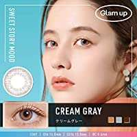 日本限定 Glam up グラムアップ カラコン Cream gray クリームグレー 1day 10枚入り 度あり 度なし (-6.00)
