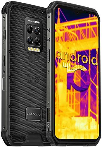 Ulefone Armor 9 Móvil Libre Resistente, con Cámara de Imagen Térmica FLIR Android 10 4G, 8+128GB, Cámara Trasera de 64MP, 6600mAh Batería Smartphone, Pantalla FHD + de 6,3 Pulgadas, IP68 Impermeable