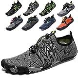Lvptsh Zapatos de Agua para Hombre Zapatos de Playa Zapatillas Minimalistas de Barefoot Secado Rápido Calcetines de Piel Descalza Escarpines de Verano Deportes Acuáticos,Gris3,EU42