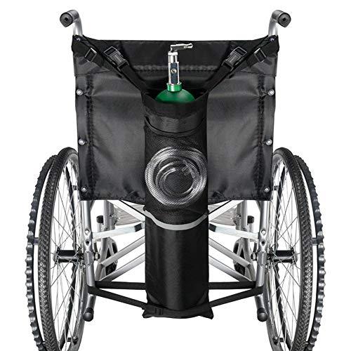 GzxLaY Oxygen Bag Mochila Holder Silla de Ruedas Walker con Hebillas, se Adapta a Cualquier Silla de Ruedas, para Uso médico, hogar, Hospital, se Adapta a la mayoría de los Cilindros de oxígen