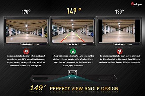 eRapta ERT3 2nd Generation Rear Reversing Backup 149°Perfect View Angle Design 4 LED Lights Night Vision 9 Level Waterproof Car Dash Security Sensor Back up Camera