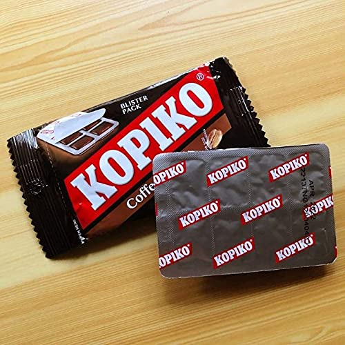 Kopiko Coffee Candy Blister Pack (4 Packs of Kopiko Candy with 2 Free Instant Coffee in Container)