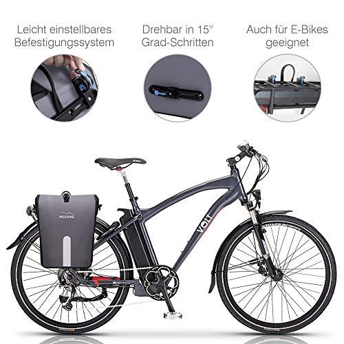 Mozione® Hinterradtasche – Universell passende Fahrradtasche mit bis zu 30l Stauraum – leichte Montage am Gepäckträger Dank mitgeliefertem Zubehör – wasserdichte Gepäckträgertasche mit Reflektoren - 6