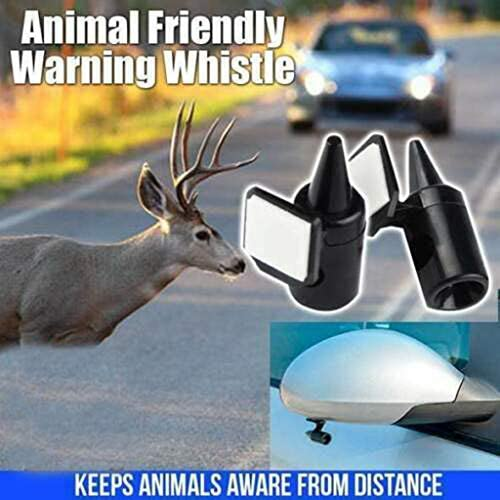 Sixcup Pack Of 2 Animal Friendly Warning Whistle Professional Whistle With Excellent Sound Animal Friendly Warning Whistle Deer Alert Animal Warning Whistle Auto Safety Warning Alarm Pet Supplies