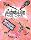 Makup Artist Face Chart: Face makeup charts: blank exercise paper for professional and beginner makeup artists.