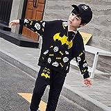 ZGCP Costume Halloween enfants Spiderman Vêtements Altman Batman Costume Noir 120 mètres