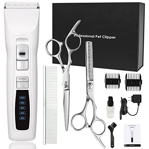 Dog Clippers Professional Heavy Duty 2-Speed Turbo Dog Grooming Clippers Kit