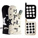 WAEKIYTL Oven Mitts and Pot Holders 4PCS Set Heat Resistant Gloves to Protect