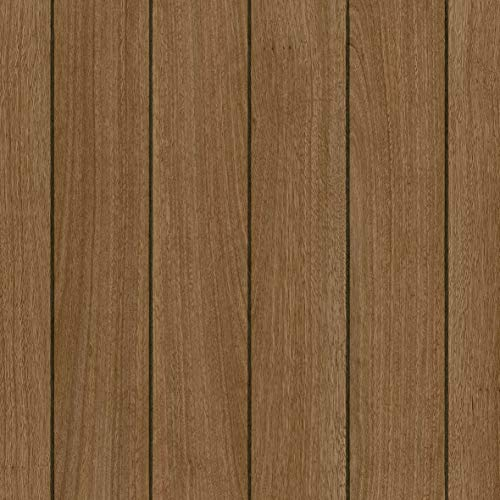 PVC Bodenbelag Bootsdeck Teak Brown Endless 543 mit Textilrücken (Musterstück in DIN A4)