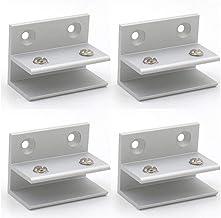 Set van 4 NUZAMAS F-vormige glasklemmen, glazen wandhouder, wandklemmen, douche, plank, panelen, klem 10-12 mm