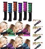 Vianber Temporäre Haarfarbe Kamm, waschbar 6 Farben Safe Dye Haar DIY Sets für Mädchen für...
