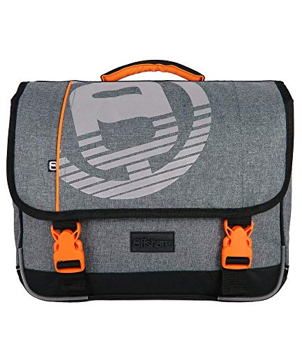 Bagtrotter Cartable Offshore 38cm Gris Et Orange