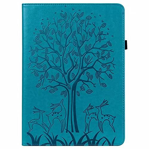 Funda para Samsung Galaxy Tab S7 SM-T870/T875 Tablet Case Funda de piel sintética a prueba de golpes Multi-Angular Soporte de visualización Folip Flip Funda protectora azul