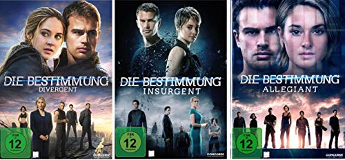Die Bestimmung - 3 DVD Set: Divergent, Insurgent, Allegiant (Single Versionen) - Deutsche Originalware [3 DVDs]