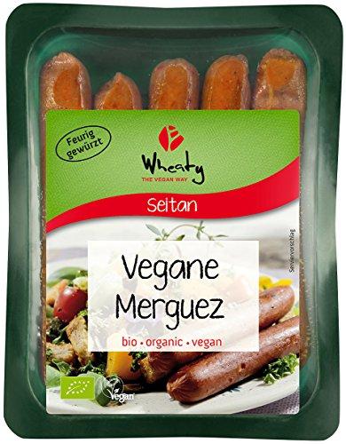 Wheaty Bio Veganwurst Merguez, aus Seitan, 200 g
