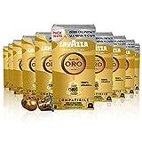 Lavazza Qualità Oro, 100% Arábica, Cápsulas de Aluminio Compatibles con Nespresso, Impacto Neutro de CO2, 10 Paquetes de 10 Cápsulas