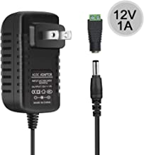 inShareplus DC 12V 1A Power Supply 12W, Wall Mounted AC/DC Switching Power Supply 12v, 100-240V AC to 12V AC DC Adapter for LED Strip Light with 5.5/2.1 DC Female Barrel Connector