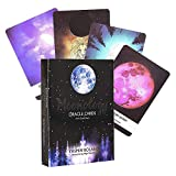 AFKK 44 Tarjeta/Set Moonology Oracle Cartas del Tarot para Principiantes Set (Inglés) Tarjetas, Tarot Tarjetas De Juego