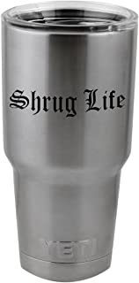 Funny Shrug Life IDK Thug Life Parody Vinyl Sticker Decal for Yeti Mug Cup Thermos Pint Glass (4