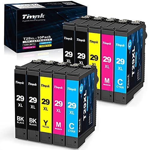 Timink 29 XL Cartucce d'inchiostro Compatibili per Epson 29XL Sostituzione con Epson XP-255 XP-235 XP-345 XP-435 XP-245 XP-247 XP-332 XP-342 XP-432 XP-442 XP-445 (10 Pezzi)