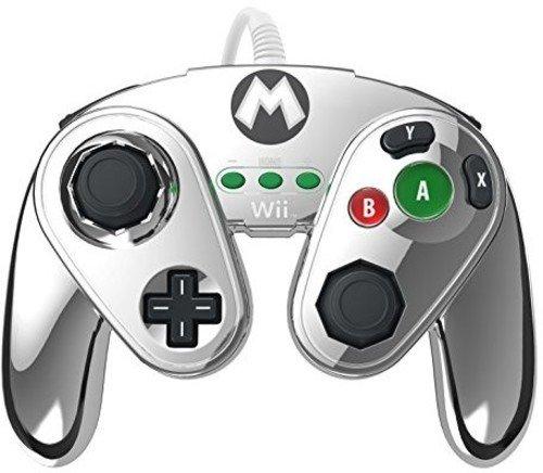 PDP - Mando Fight Pad Con Cable: Metal Mario (Nintendo Wii U)