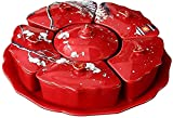 PANGPANGDEDIAN Canasta de Frutas Placa de Fruta secada Snacks Set Plato Plato Caja de Caramelo Festivo Boda Sala de Estar Mesa de café decoración Estante