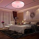 24W Lámpara de Techo Regulable Plafón LED con Altavoz Bluetooth, APP + Mando a...