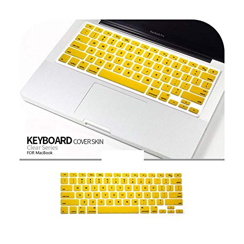 Waterproof Laptop Keyboard Protective Film Silicone Keyboard Skin Cover for Macbook Air 11'(A1370 A1465) Laptop-Yellow-