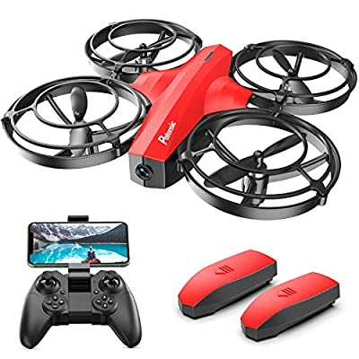 Potensic Mini Drone With Camera For Kids, FPV 2.4G WiFi, Upgraded Propeller Guard, 3D Flip, Combat Mode, Induction Of Gravity, Altitude Hold, Headless Mode, One Key Take-Off/Landing, Toy Gift, Red from Potensic