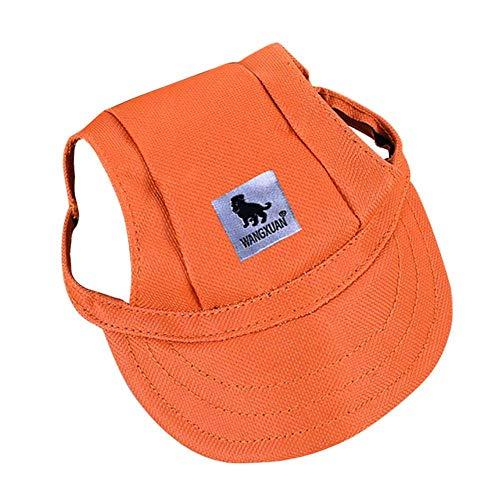 HEHUANG Suministros para Mascotas Sombrero de Perro para Mascotas al Aire Libre Pequeño Cachorro Sombrero Colorido de Verano Visor de béisbol para Perros Sombrero para el Sol, 02