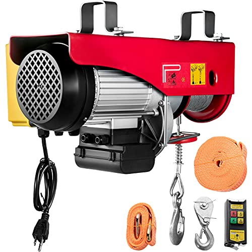 VEVOR Electric Hoist, 1320LBS Electric Winch, Steel Electric Lift, 110V Electric Hoist with Wireless Remote Control