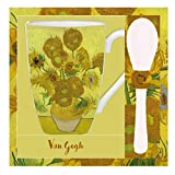 VAOFO Van Gogh 523445 Tazza con Cucchiaio, Modello Quindici Girasoli