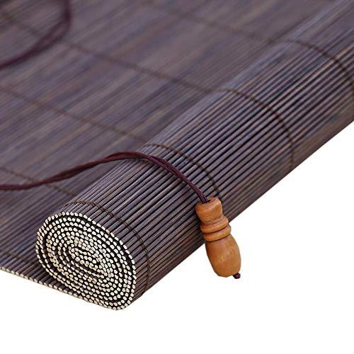 Jcnfa-rolgordijn jaloezie bamboe gordijn jaloezieën, waterdicht buiten binnen, thuis balkon afgesneden, intern/externe installatie, maat aanpasbaar, paars-brede lijn afstand