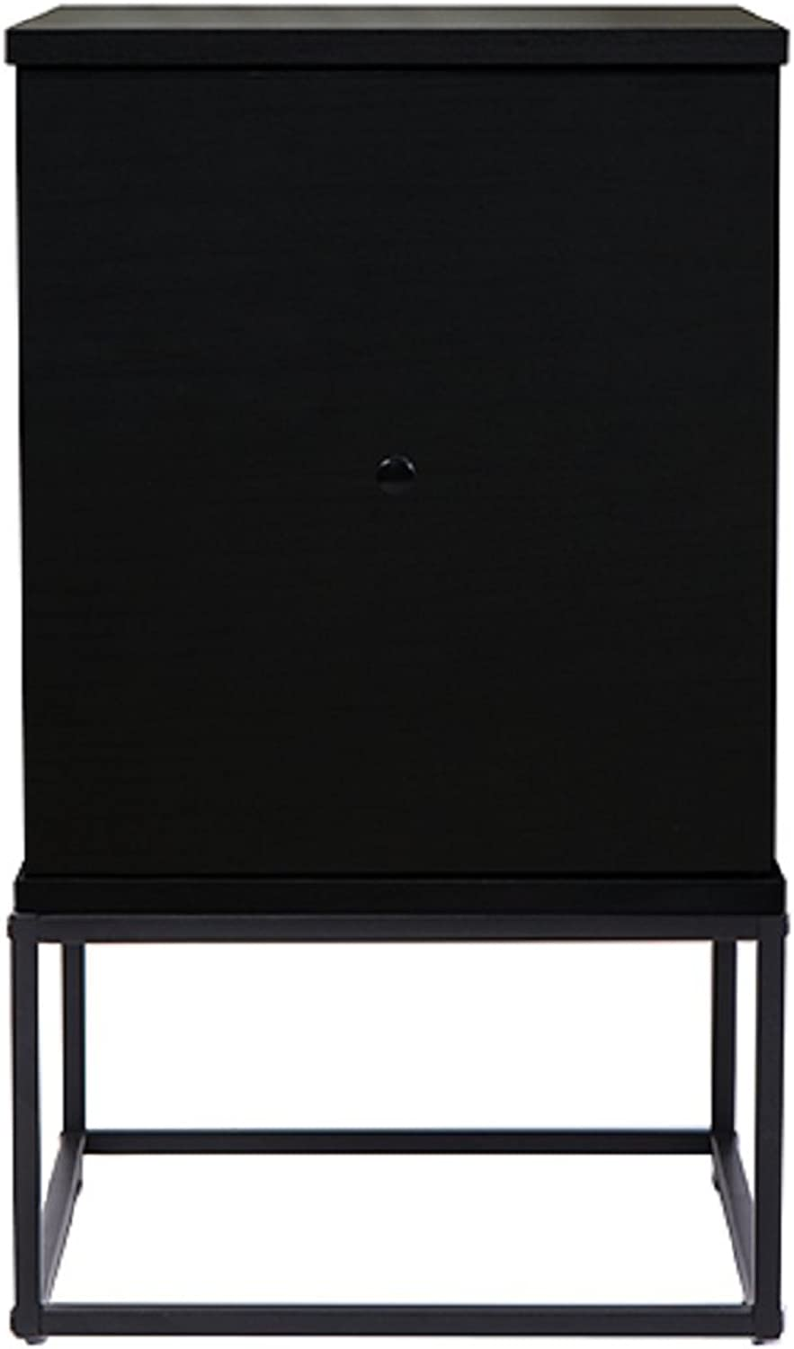 Gordon Bedside Table W 2 Drawer LAMP Bed Side Storage Unit NIGHTSTAND Black